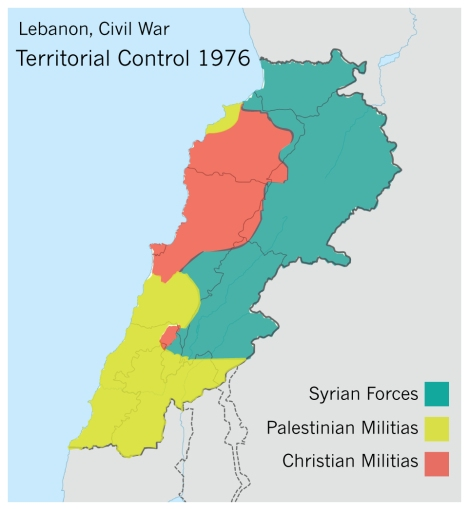 lebanon-1976-territorial-map